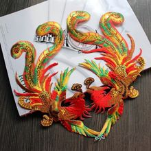Phoenix Bird Iron On Embroidery Patches For clothing Processing It Embroidery Applique To Stick Stage Decoration