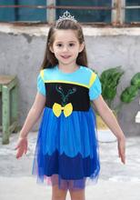 Carnival Girls Elsa Princess Dress Baby Kid Clothes Princess Anna Elsa costume Snow Queen Cosplay Costume Party Children Clothin queen elsa dresses snow queen elsa costumes princess anna elsa dress for girls dress cosplay elza clothes children clothing