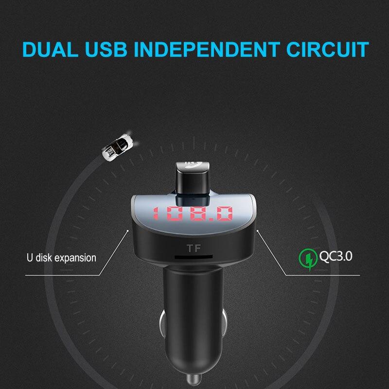 Vehemo 5 V/3.1A MP3 плеер сигареты Зарядное устройство автомобиля Bluetooth Mp3 Беспроводной автомобиля Зарядное устройство Грузовик Автомобильные аксессуары Dual USB
