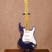new handmade remains ST electric guitar Masterbuilt John Cruz & John Mayer purple guitarra.stratocaster gitaar relics by hands