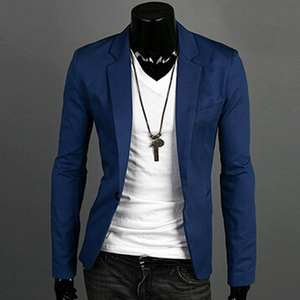Devin Du Blazer masculino Casual Slim Fit Men's Suit Jacket
