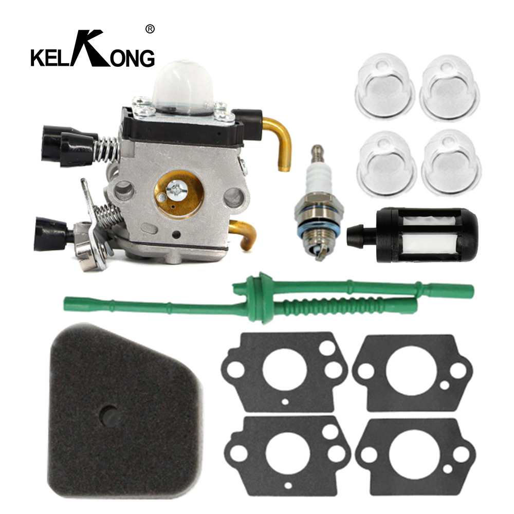 Carburetor Kit for STIHL FS38 FS45 FS46 FS55 HS45 KM55 FS85 Air Fuel Filter Line