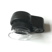 45X MG13102  2LED and 1 UV cylinder zoom jewelry magnifiers, magnifying glass loupe currency detecting