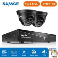 SANNCE 4CH 720P CCTV DVR 1200TVL Outdoor IR Night Home Security Camera System 4CH 720P CCTV Surveillance kit Black Color