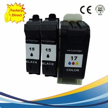 3 x Reman Ink Cartridges For HP 15 XL 17 HP15 HP17 Deskjet 816c 825c 840c 841c 842c 843c 845c 825Cvr 845Cvr Inkjet Printer