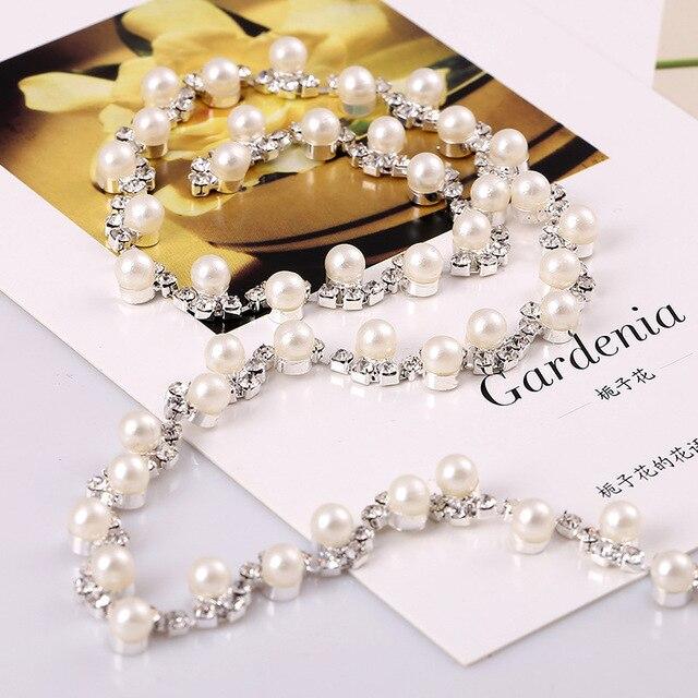 Hotfix Recorte Rhinestone de La Perla Cristalina Clara Applique Vestido de  Novia Decoración Recorte de La 0e82a9d6b6f7