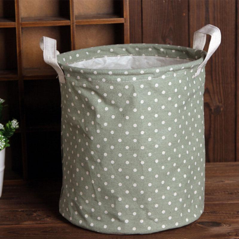 Foldable Simple Designed Linen Washing Clothes Laundry Basket Storage Hamper
