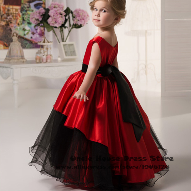 Red Pageant Ball Gowns For Girls Kids Evening Gowns Prom ...