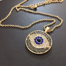 2017 Fashion Crystal Choker Evil Eye Pendant Necklace Lucky Nice Necklace Jewelry For Women Gifts Dropshipping