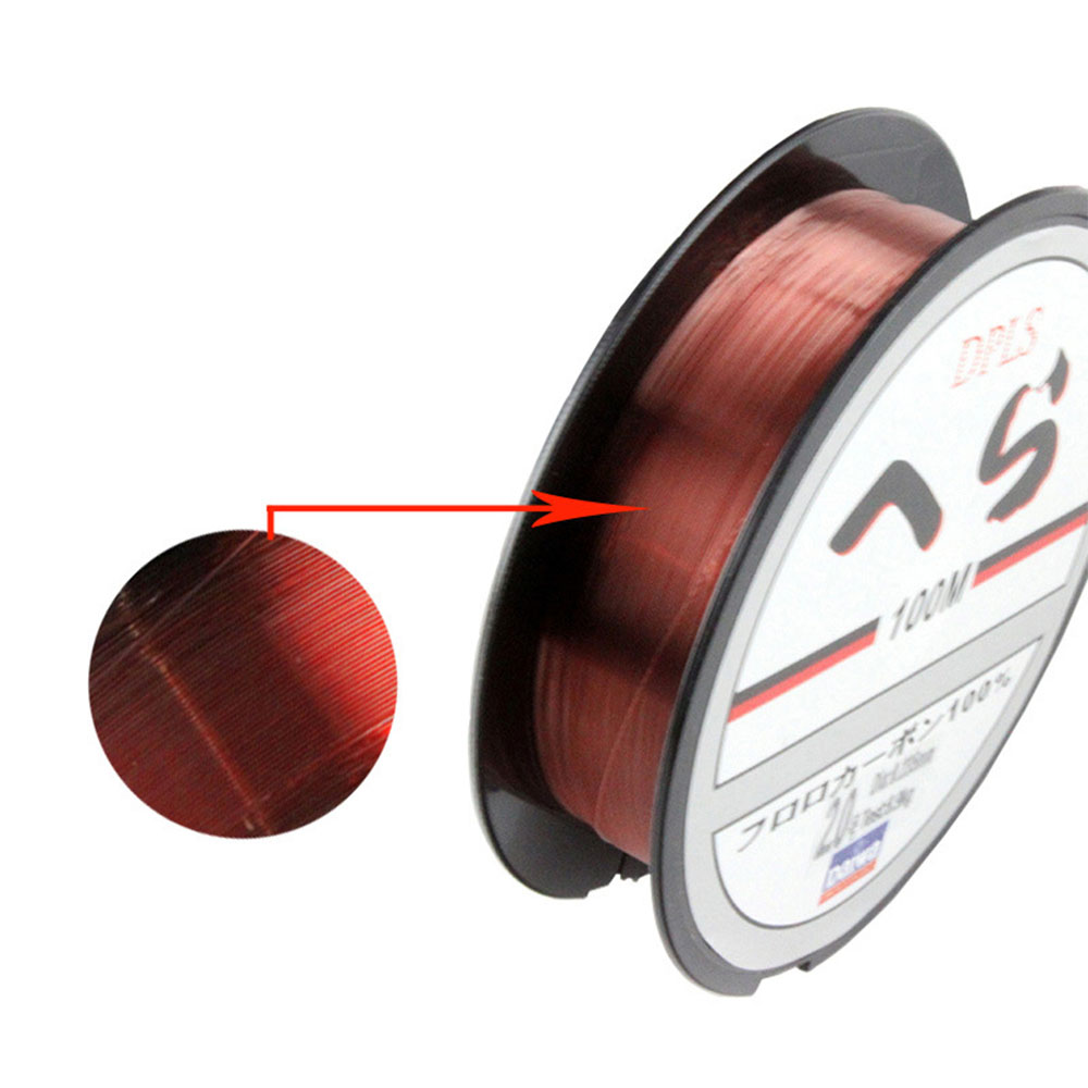 100m Fluorocarbon Fishing Line Daiwa Two Colors Red/Clear 3.5LB 40.5 ...