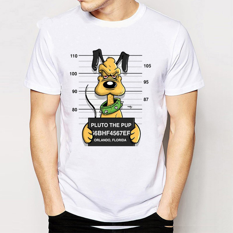 2017 New Brand Modal T Shirt Police Dept Design T Shirts: 2017 Creative Pug Life Design Men T Shirt Bad Dog Pug