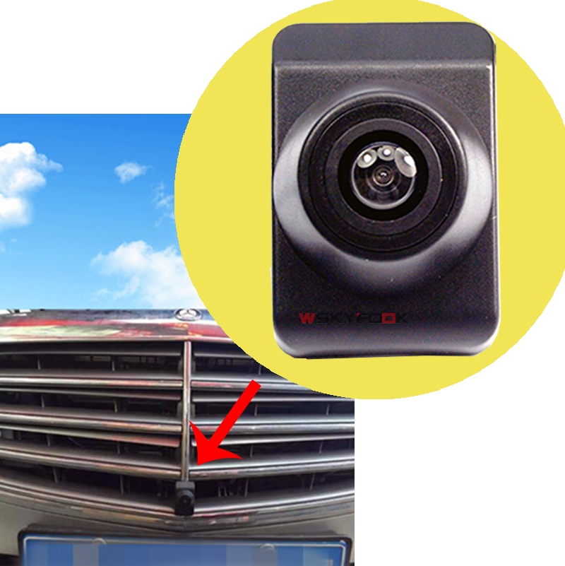 CCD car front view camera for Mercedes Benz calss Benz C 2016 FRONT GRILLE camera HD night vision wide angle car front camera parking system waterproof wide angle ccd hd color for hyundai logo front camera mark emblem camera