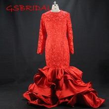 Custom made Wedding Dress 2017 Long Sleeve Lace Bridal Dresses vestidos de noiva robe de mariage Lace Wedding Dresses Plus Size