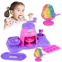 Kids Ice Crusher Toys PlayHouse Toy Children Kitchen Simulation Toy Ice Cream Machine Toys Christmas Gift