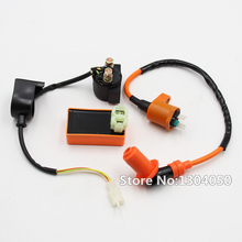 Performance Ignition Coil Starter Solenoid Relay 6 Pin AC CDI Fit GY6 50 110 125 150