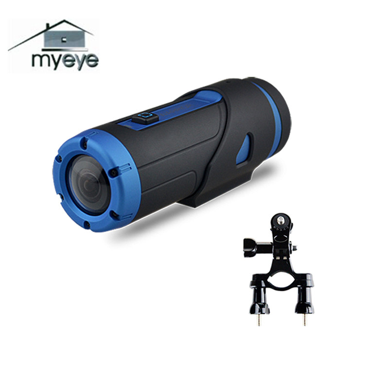 Myeye H.265 1080P HD Waterproof Night Vision Sport Camera With 32GB SD Card Wifi Video G-sensor Action Camera With Bike Holder good selling digital video camera with sd card up to 32gb