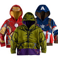 3-10Yrs 2015 Kids the Avengers Long sleeve Hoodies,Baby Boys Cotton Cartoon Jacket&Coat,Baby Boys Iron man Outwear For Spring
