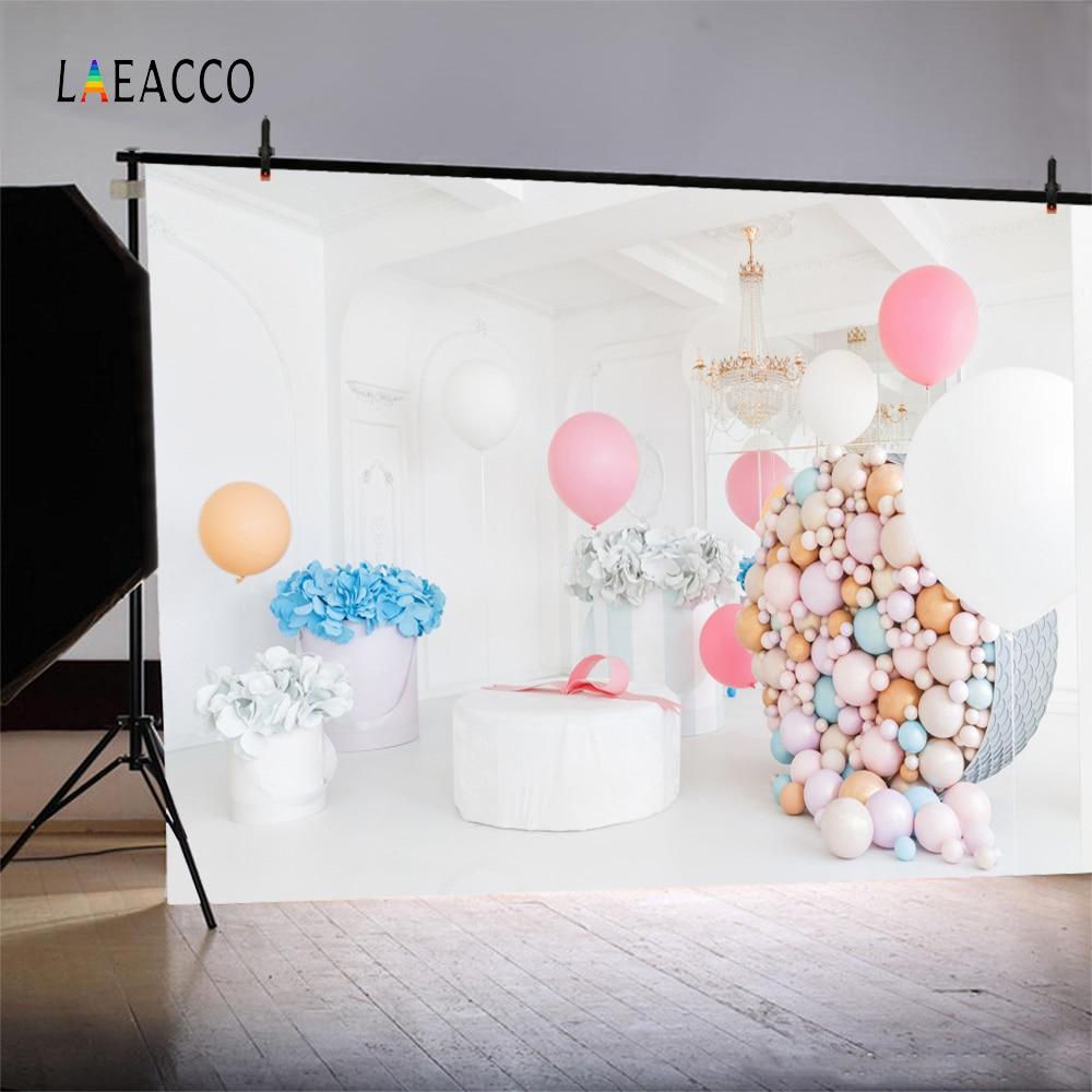 Laeacco colorate baloane flori copil nou-născuți de fotografie - Camera și fotografia - Fotografie 2