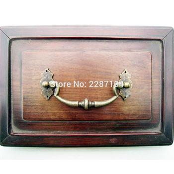 6 sztuk antyczny mosiądz zabytkowe meble biżuteria komoda biurko komoda do szafki szuflady drzwi klamka do okna pokrętło 120x53mm tanie i dobre opinie HZYUEGOU Furniture fitting
