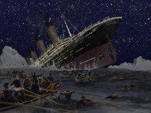 O naufrágio do titanic foto fundo do estúdio Vinil pano de Computador impresso backdrops do mar de Alta qualidade