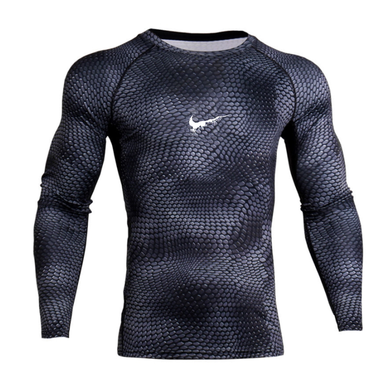 New 3D Printed   T  -  shirts   MMA Compression   Shirt   Thermal Long Sleeve   T     Shirt   Mens Fitness Bodybuilding Skin Tight Quick Dry Tops