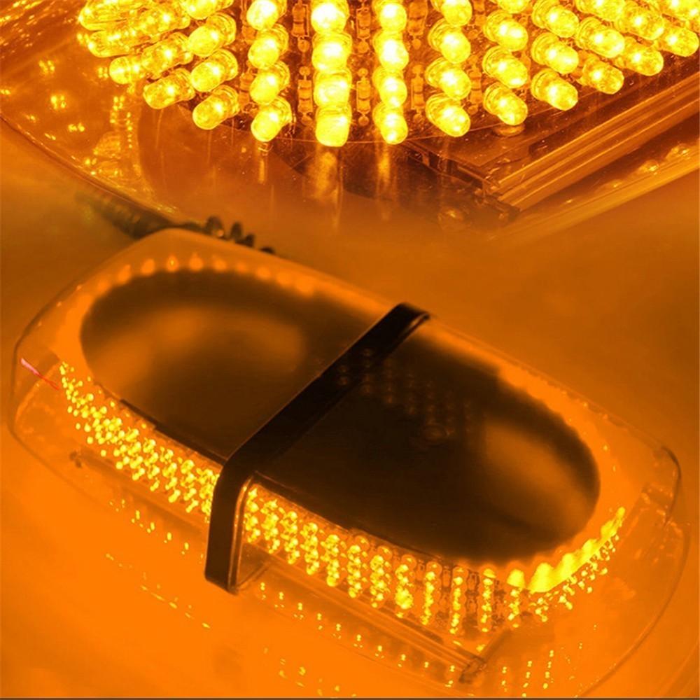 Hot ambre jaune 240 LED base magnétique toit de voiture clignotant stroboscope lumière de secours 240 LED balises de Police avertissement Mini lampe d'éclairage