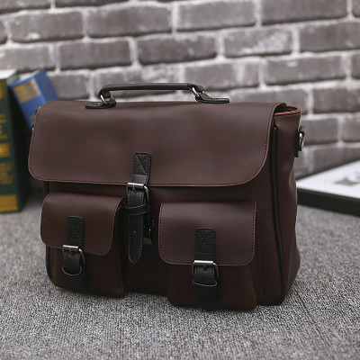 IMIDO 2018 New Crazy Horse PU Leather Men's Bags Crossbody Bags