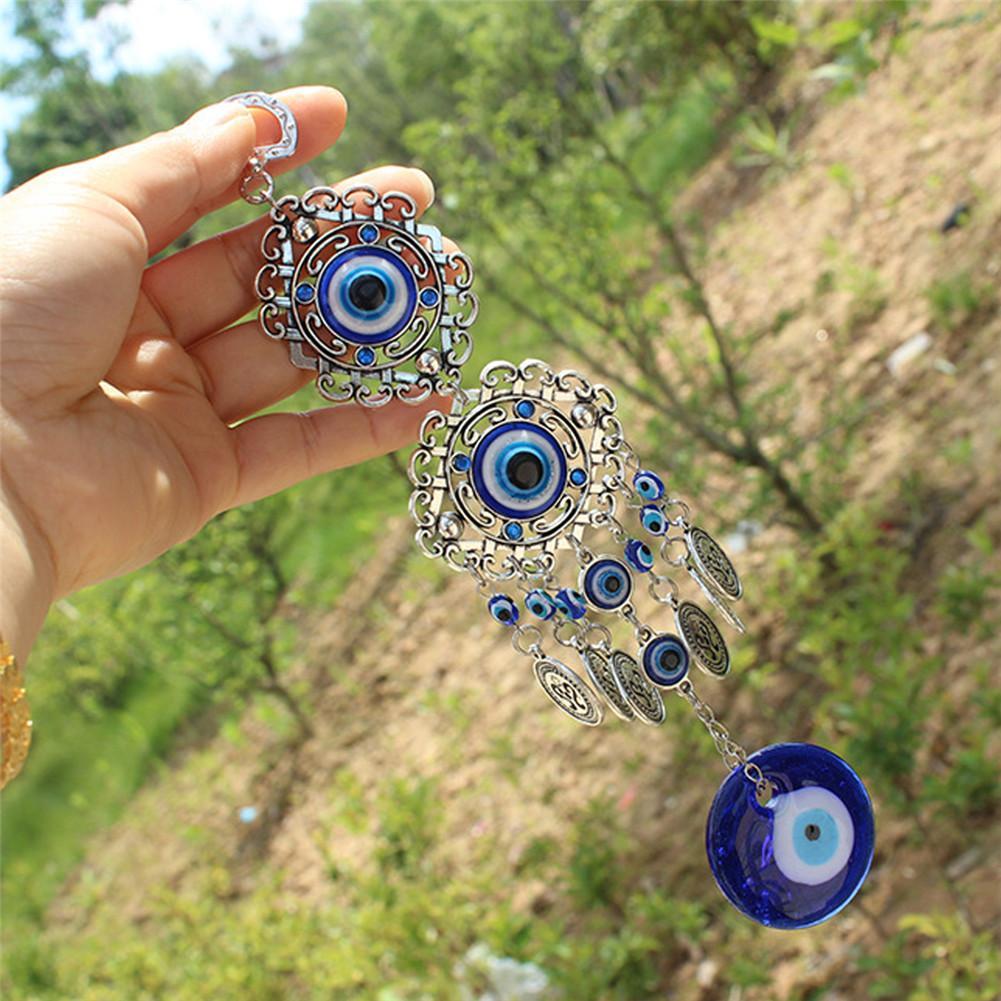 Turkish Blue Evil Eye with Lucky Elephant Amulet Hanging Decor Gift Retro-CL08