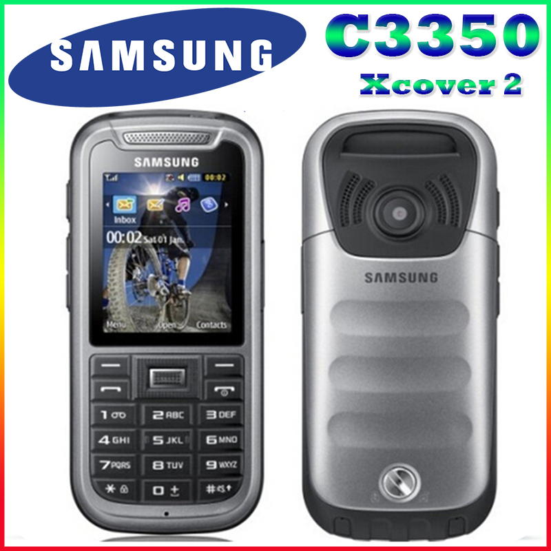 C3350 100% Original Unlocked Samsung C3350 2.2 Inches GPS GSM Cheap Refurbished Mobile Phone Free Shipping