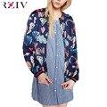 RZIV Женщины куртка бомбардировщика 2016 Граффити повседневная отпечатано куртка и тонкий слой куртки женщин