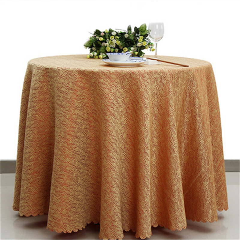 Beautiful 180x180cm Polyester Round Tablecloth Wedding Fabric Rectangular Table Cloth  Overlays Washable Restaurant Party Christmas Decor