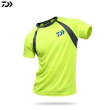 Daiwa одежда для рыбалки летняя с коротким рукавом быстросохнущая Солнцезащитная дышащая футболка ультратонкая рыболовная рубашка