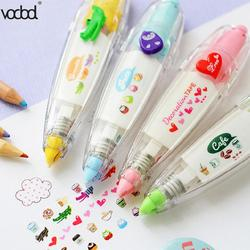 VODOOL Correction Tap Heart Press Type Decorative Pen Cake Animals Diary Scrapbooking Stationery Students Gifts School Supplies