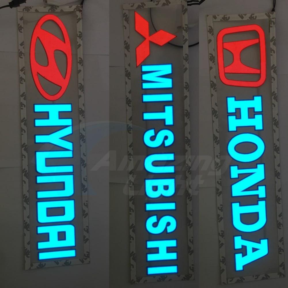 Hot Sale Customzied 40x10cm EL Backlight El Panel El Car Sticker With DC12V Inverter