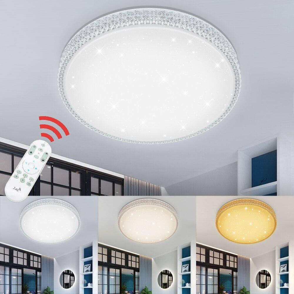 Dimmable 50 w Design Moderne Ciel Étoilé LED Plafonnier Acrylique Éclairage Intérieur Cuisine Chambre Salon