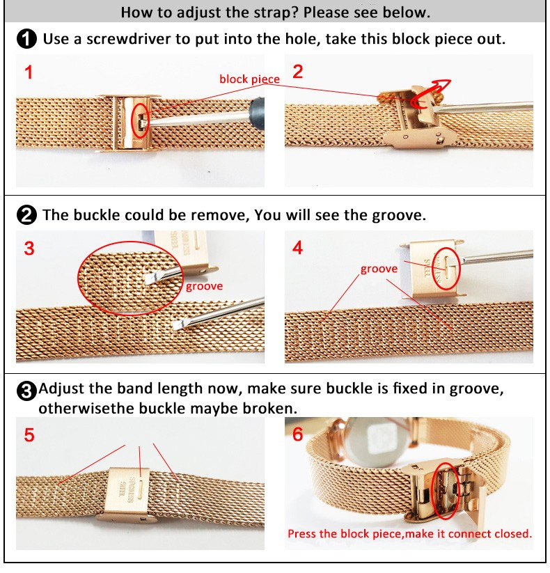 How to adjust a strap