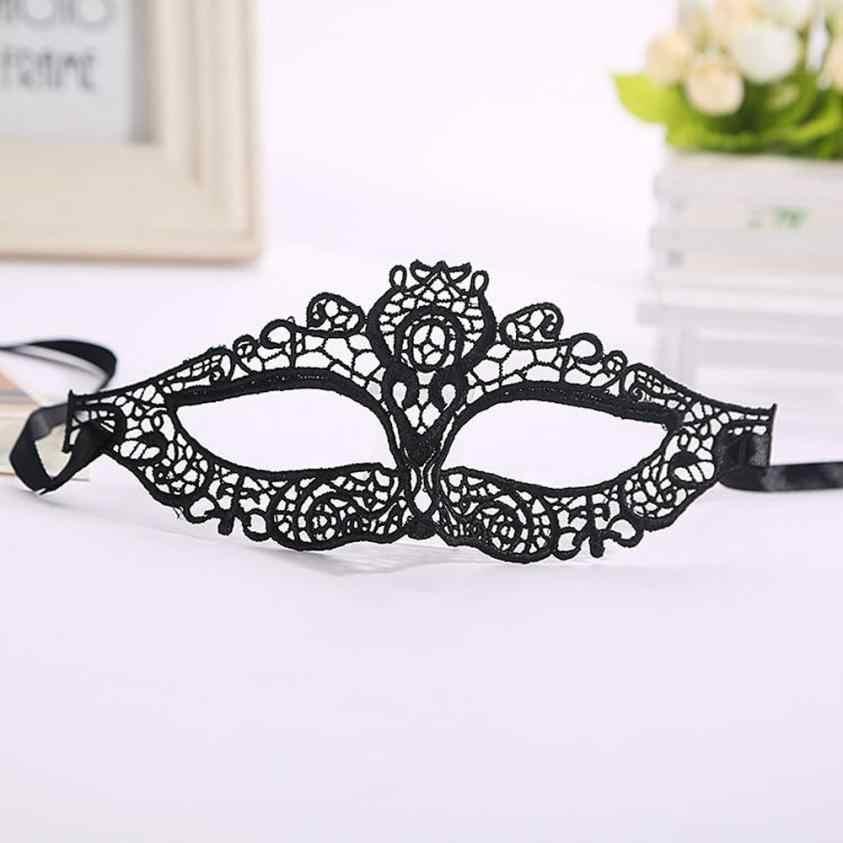 1pc 2016 nowy kot dziewczyny kobiety biały czarny koronki pół maska na Halloween bal przebierańców przebranie kostium niesamowite