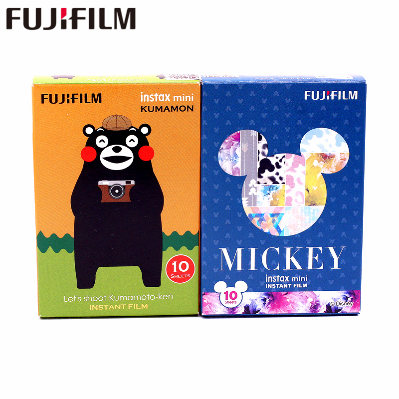 Galleria fotografica Fujifilm 20 Sheets Fuji Instax New Mickey+KUMAMON kumamoto bear Film For Mini 8 9 50s 7s 90 25 Share SP-1 SP-2 Instant Camera