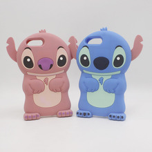 цена Cute 3D Cartoon Phone Cases For Apple iPhone 6 6s 7 Plus 5 5S SE 4S 3D Stitch Case Soft Silicon Cover For iphone7 iphone6 Coque