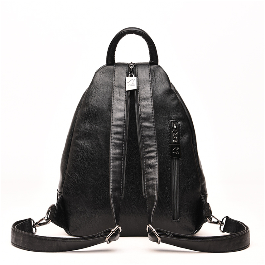 HTB1 2KeXN2rK1RkSnhJq6ykdpXam New 2018 Women Leather Backpacks Vintage Shoulder Bag Winter Female Backpack Ladies Travel Backpack Mochila School Bags For Girl
