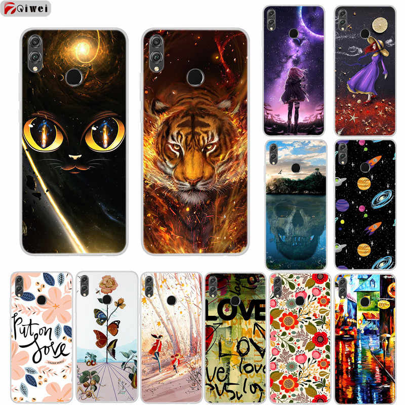 For Funda Huawei Honor 8X Case Cute Animal Silicone Soft TPU Cover For Huawei Honor 8X Phone Case Coque Honor8X 8 X X8 Cases