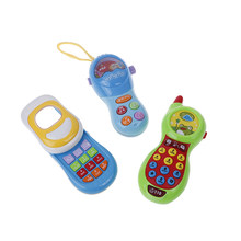 Baby Pretend Mobile Phone Toy Educational Learning Cell Phone Music Machine Electronic Toys For Children Kids Gift HOT SALE(China)