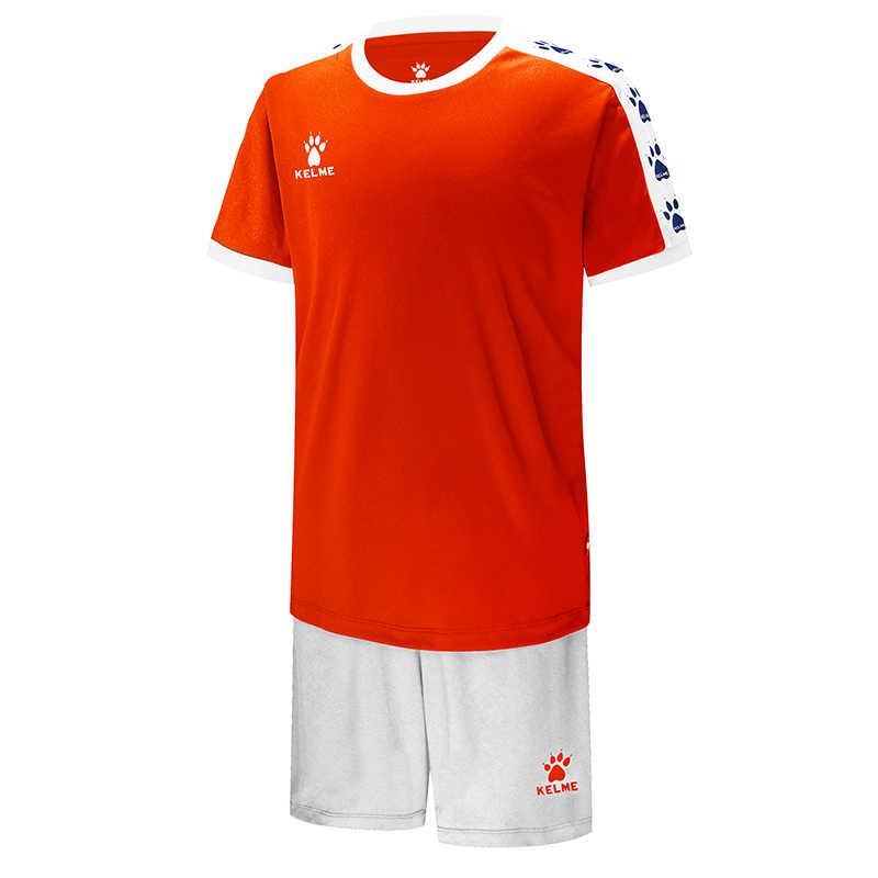 KELME مخصص للأطفال لكرة القدم قمصان كرة القدم فريق الزي الرسمي التدريب قصيرة الأكمام الفانيلة السراويل Survetement جودة عالية 3883033