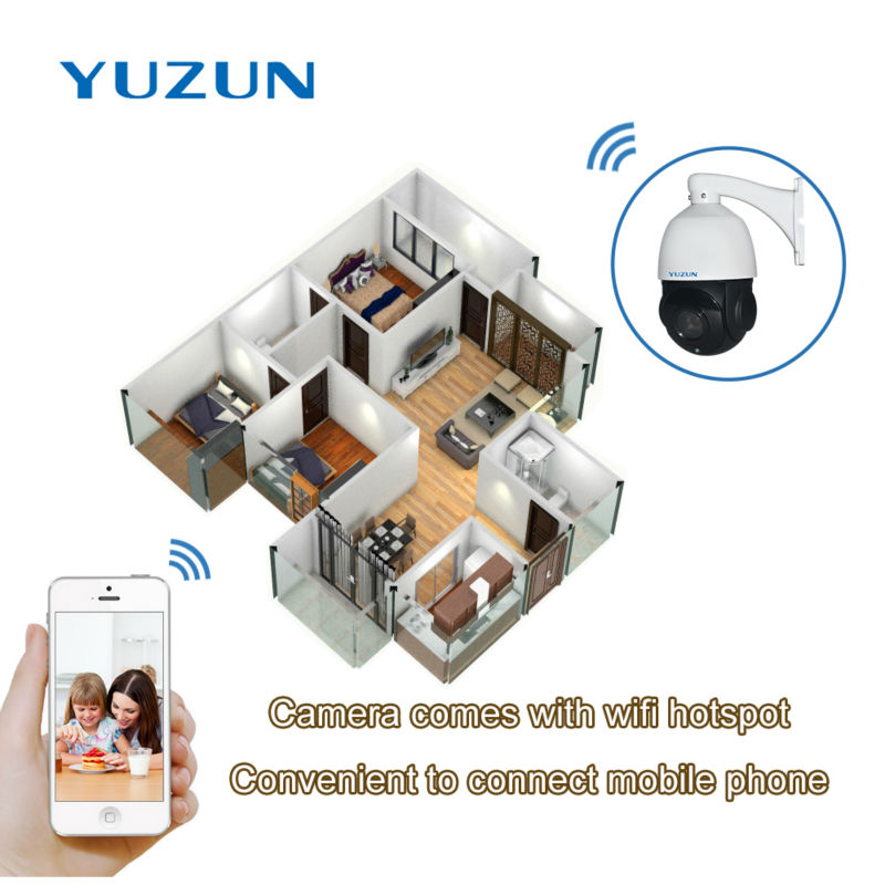 2MP Wireless Security Camera with IP onvif P2P zoom lens IR CUT camera software Speed Dome 4 inch mini size Outdoor Indoor in Surveillance Cameras from Security Protection