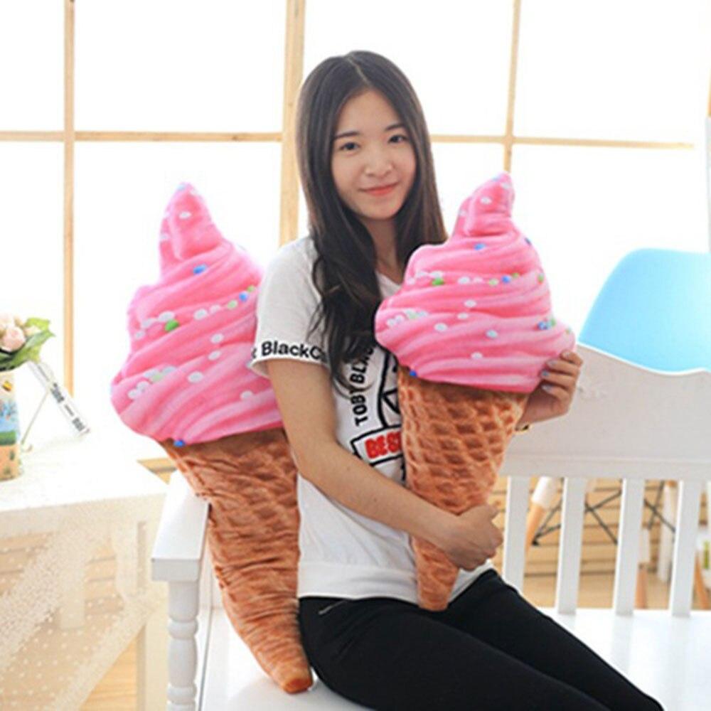 Мороженое подушка, подушка для поясницы мороженое подушки 30 см 4 модели плюшевая подушка 3D Креативный Дизайн Забавный диван домашнего офиса кровати