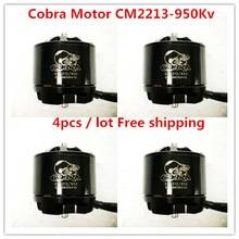Cobra Motor CM2213-950Kv, Brushless Motor untuk Multirotor, Drone, Fpv racing, 4 pc/lot, gratis Pengiriman