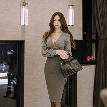 Formal work style pencil dress