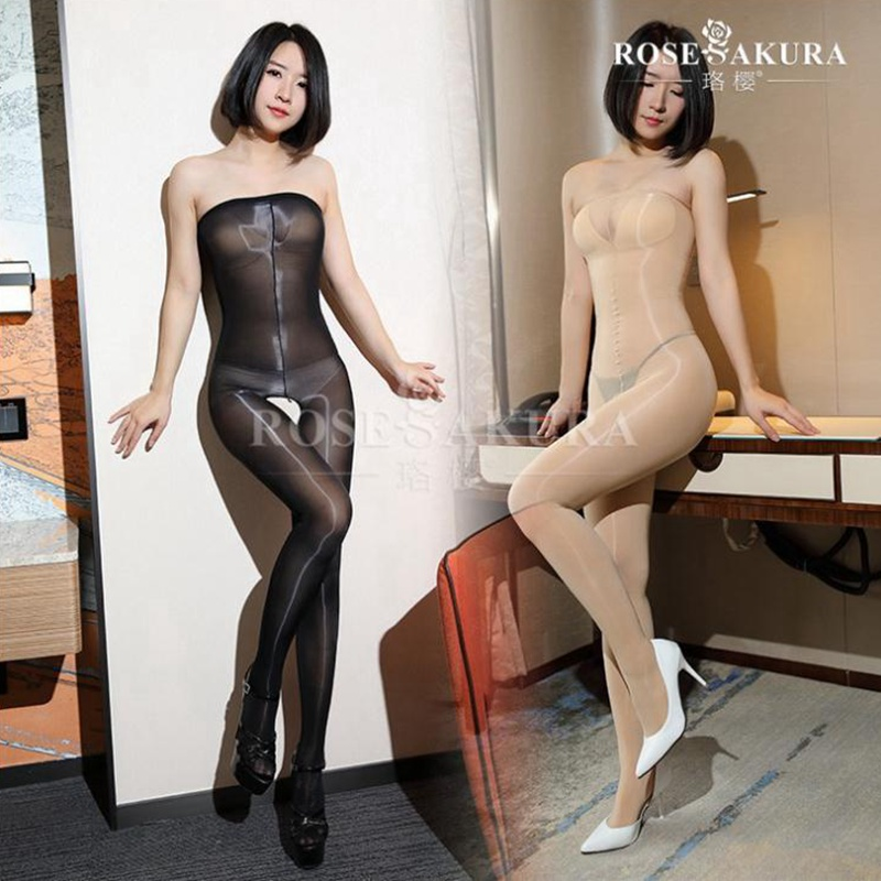 8D over chest super elastic body stockings,high elasticity,anti hook oil open-crotch Shiny pantyhose 0705