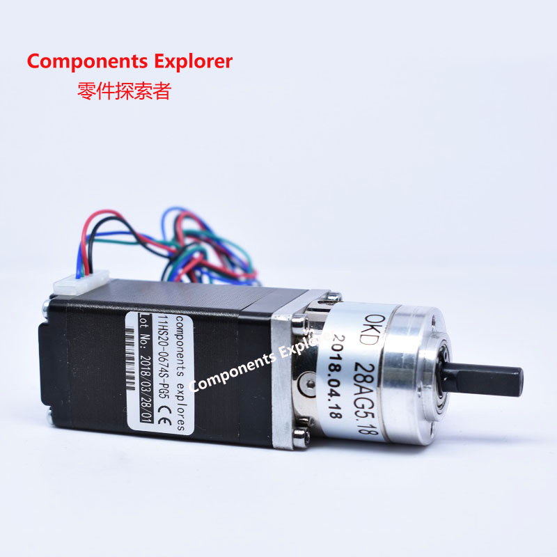 5.18:1 Nema11 Planet Gearbox Stepper Motor length 28mm Nema 11 Geared Stepper Motor5.18:1 Nema11 Planet Gearbox Stepper Motor length 28mm Nema 11 Geared Stepper Motor