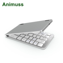 Animuss Bluetooth 3.0 Portable Wireless keyboard Foldable Keyboard mini slim